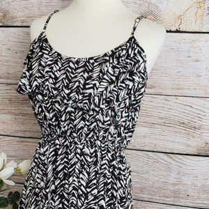 3/$25 Cotton On Ruffle Abstract Black White Dress